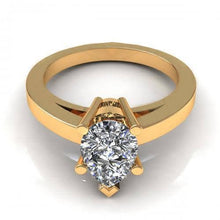 Load image into Gallery viewer, 0.35-1.50 CT Pear Cut Diamonds - Solitaire Ring