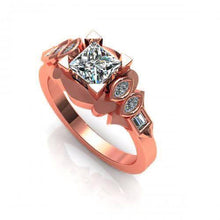 Load image into Gallery viewer, 0.60-1.75 CT Baguette & Marquise & Princess Cut Diamonds - Engagement Ring