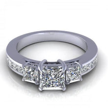 Load image into Gallery viewer, 1.40-2.55 CT Princess Cut Diamonds - Engagement Ring