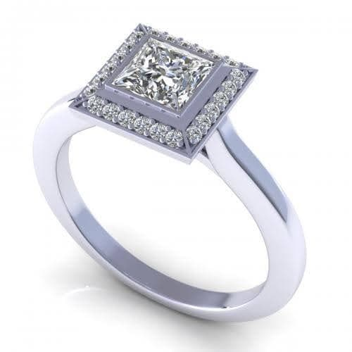 0.49-1.64 CT Round & Princess Cut Diamonds - Engagement Ring