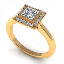 Load image into Gallery viewer, 0.49-1.64 CT Round & Princess Cut Diamonds - Engagement Ring