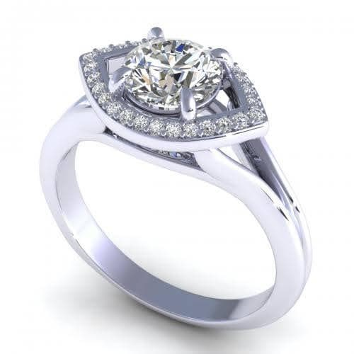 0.45-1.60 CT Round Cut Diamonds - Engagement Ring