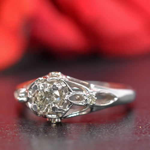 0.42-1.57 CT Round Cut Diamonds - Engagement Ring