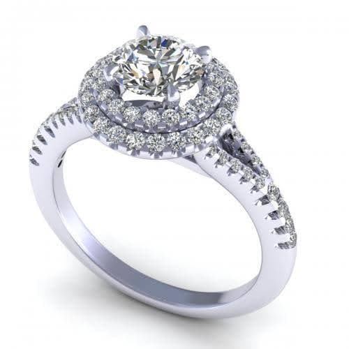 0.84-1.99 CT Round Cut Diamonds - Engagement Ring