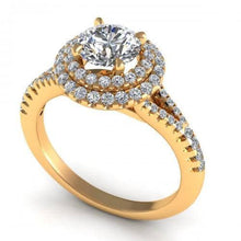 Load image into Gallery viewer, 0.84-1.99 CT Round Cut Diamonds - Engagement Ring