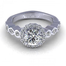 Load image into Gallery viewer, 0.90-2.05 CT Round Cut Diamonds - Engagement Ring