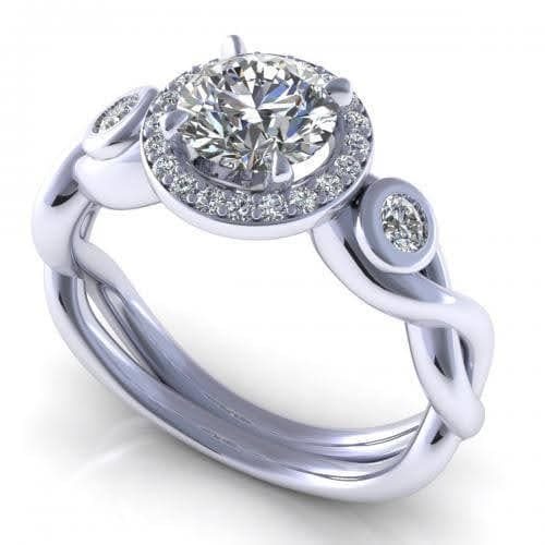 0.62-1.77 CT Round Cut Diamonds - Engagement Ring