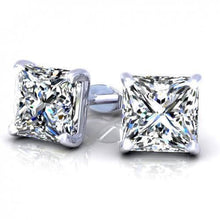 Load image into Gallery viewer, 0.25 CT Princess Cut Diamonds - Stud Earrings
