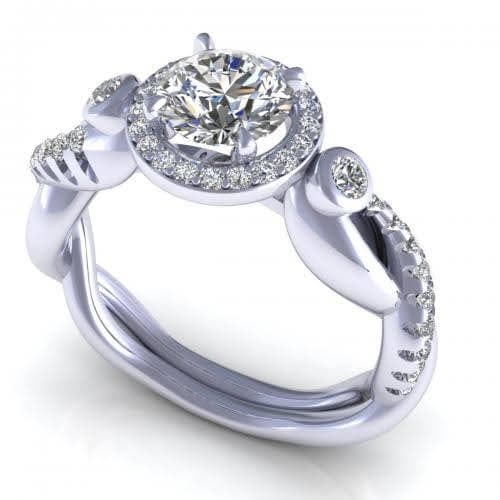 0.82-1.97 CT Round Cut Diamonds - Engagement Ring