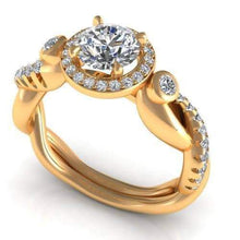 Load image into Gallery viewer, 0.82-1.97 CT Round Cut Diamonds - Engagement Ring