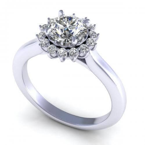0.55-1.70 CT Round Cut Diamonds - Halo Ring