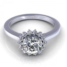 Load image into Gallery viewer, 0.55-1.70 CT Round Cut Diamonds - Halo Ring