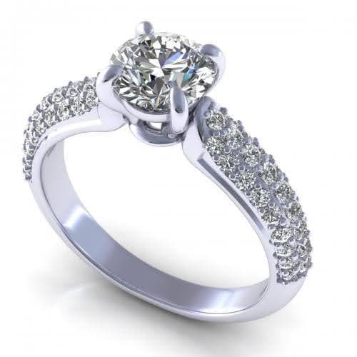 0.85-2.00 CT Round Cut Diamonds - Engagement Ring