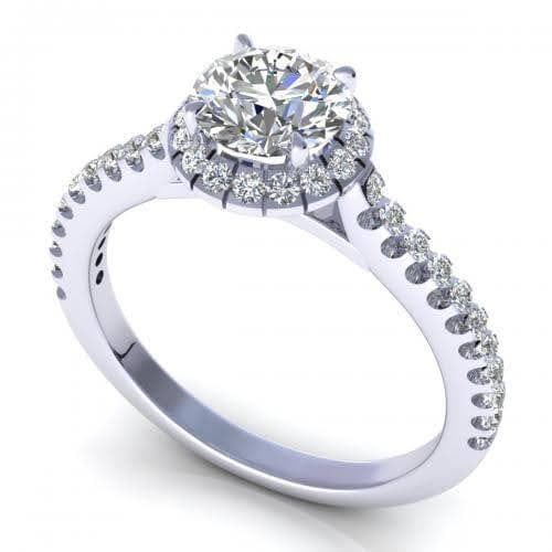 0.70-1.85 CT Round Cut Diamonds - Engagement Ring