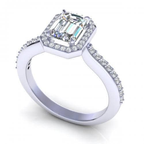 0.65-1.80 CT Round & Emerald Cut Diamonds - Engagement Ring