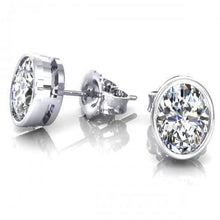 Load image into Gallery viewer, 0.25 CT Oval Cut Diamonds - Stud Earrings