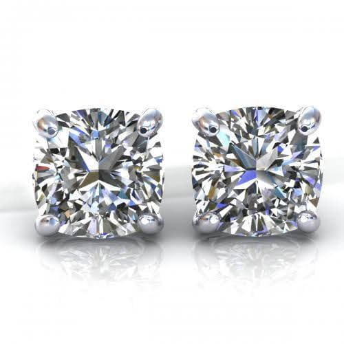 0.25 CT Cushion Cut Diamonds - Stud Earrings