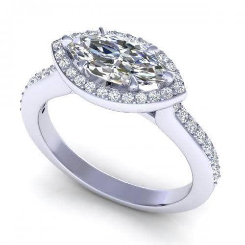 0.65-1.80 CT Round & Marquise Cut Diamonds - Engagement Ring