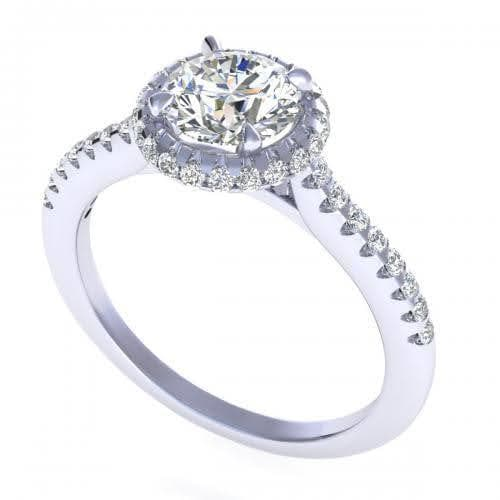 0.65-1.80 CT Round Cut Diamonds - Engagement Ring