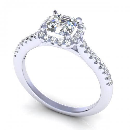 0.70-1.85 CT Round & Ascher Cut Diamonds - Engagement Ring