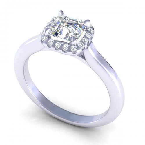 0.50-1.65 CT Round & Ascher Cut Diamonds - Engagement Ring
