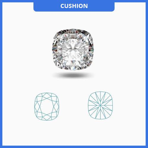 0.55CT K-L/SI3-I1 Cushion Cut Diamond MDL#D9090-16
