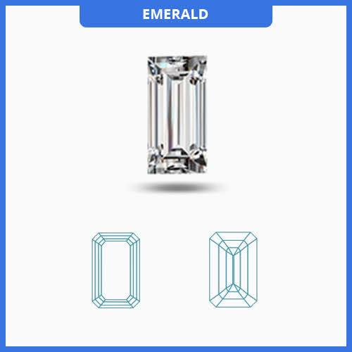 0.75CT J-K/VS2-SI1 Emerald Cut Diamond MDL#D9288-2