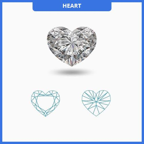 0.85CT J-K/VS2-SI1 Heart Shape Diamond MDL#D9122-2