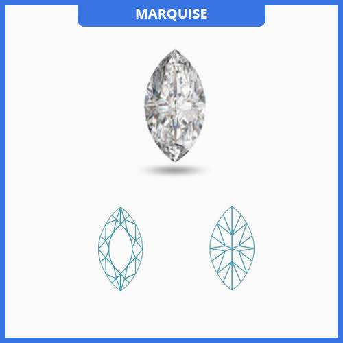0.55CT J-K/VS2-SI1 Marquise Cut Diamond MDL#D9174-2