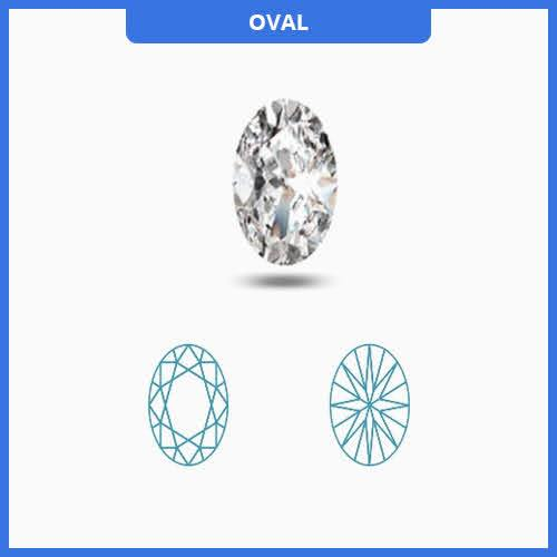 0.85CT J-K/VS2-SI1 Oval Cut Diamond MDL#D9206-2