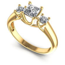 Load image into Gallery viewer, Guaranteed  Princess  Diamond  Three  Stone  Ring  MDL#102804