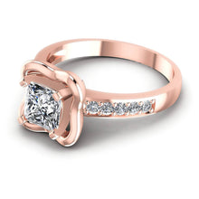 Load image into Gallery viewer, Blissful  Round  &  Princess  Diamond  Engagement  Ring  MDL#103799