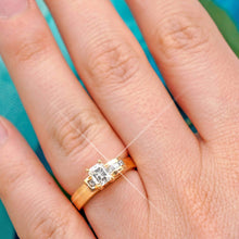 Load image into Gallery viewer, 0.45-1.60 CT Princess & Emerald Cut Diamonds - Engagement Ring