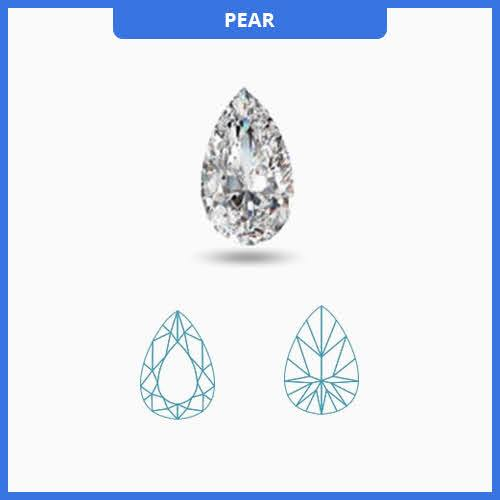 1.60CT J-K/VS2-SI1 Pear Cut Diamond MDL#D9249-2