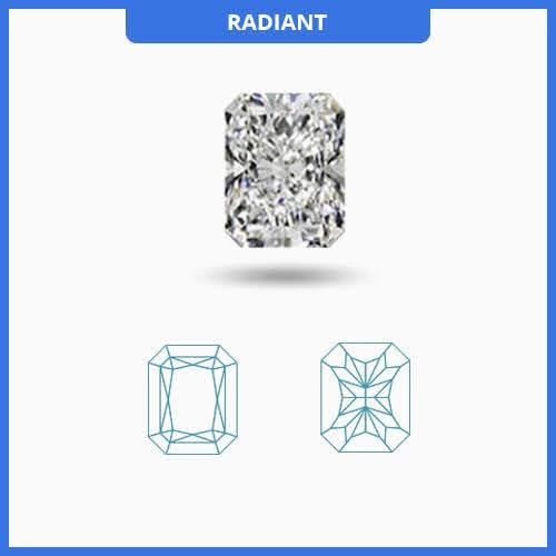 0.55CT J-K/VS2-SI1 Radiant Cut Diamond MDL#D9258-2