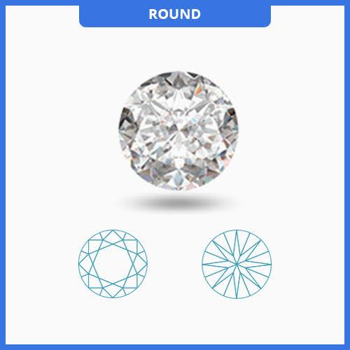 0.80CT J-K/VS2-SI1 Round Cut Diamond MDL#D9009-2