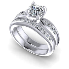 Load image into Gallery viewer, 0.90-2.05 CT Round Cut Diamonds - Bridal Set