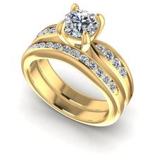 Load image into Gallery viewer, Bridal Sets 0.90-2.05CT Round Cut Diamonds