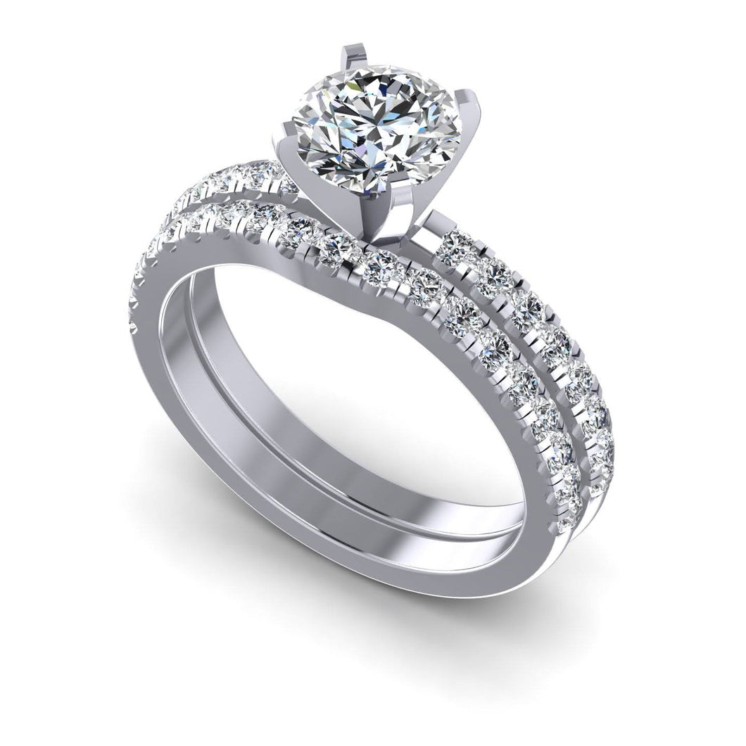 1.20-2.35 CT Round Cut Diamonds - Bridal Set