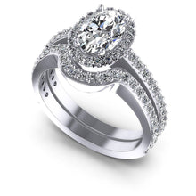 Load image into Gallery viewer, 1.10-2.25 CT Round & Oval Cut Diamonds - Bridal Set