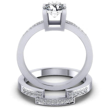 Load image into Gallery viewer, Bridal Sets 0.60-1.75CT Round Cut Diamonds