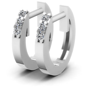 0.15 CT Round Cut Diamonds - Diamond Earrings