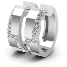 Load image into Gallery viewer, 0.50 CT Round Cut Diamonds - Hoop &  Drop Earrings