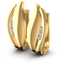 Load image into Gallery viewer, 0.30 CT Round Cut Diamonds - Hoop &  Drop Earrings