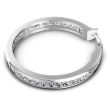 Load image into Gallery viewer, 7.10 CT Princess Cut Diamonds - Hoop &  Drop Earrings