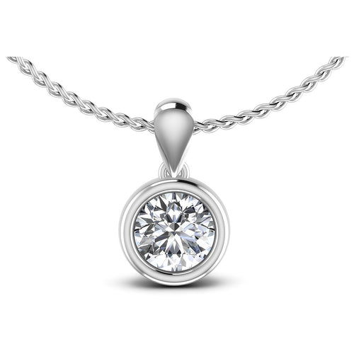 0.45-1.50 CT Round Cut Diamonds - Solitaire Pendant