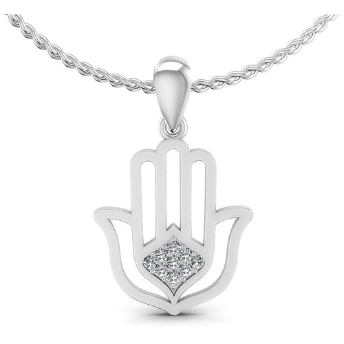 0.10 CT Round Cut Diamonds - Religious Pendant