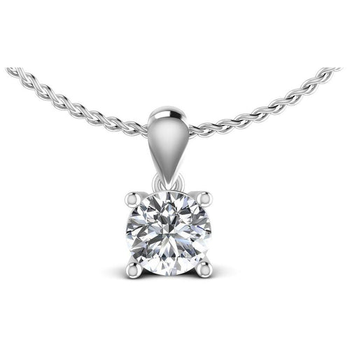 0.35-1.50 CT Round Cut Diamonds - Solitaire Pendant