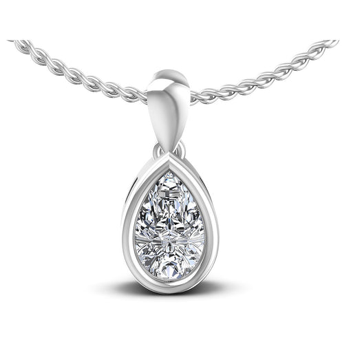 0.35-1.00 CT Pear Cut Diamonds - Solitaire Pendant