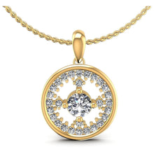 Load image into Gallery viewer, 0.90 CT Round Cut Diamonds - Diamond Pendant